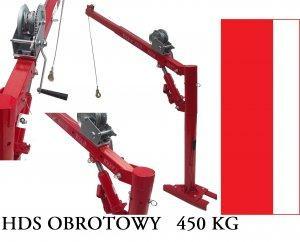ŻURAW HDS OBROTOWY PODNOŚNIK 450KG DŹWIG ŁADOWACZ