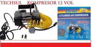 Kompresor samochodowy dwutłokowy 12 V SOLIDNY