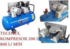 KOMPRESOR SPRĘŻARKA RIPPER 200L 860 l/min BIG