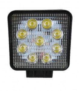 Lampa robocza 9 LED 27W kwadratowa