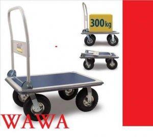 Wózek platformowy magazynowy pompowane koła TRANSPORTOWY DO 300KG