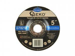 Tarcza do szlifowania metalu GEKO PREMIUM 125x6 Inox
